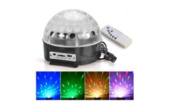 Bola Disco Led RGB Magic Ball Luces con Reproductor Mp3 - Linio