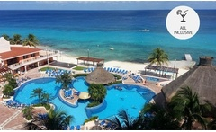 Cozumel: desde $383.040 por 4, 5, 7 o 10 noches para dos + all inclusive + visita a fábrica de chocolate en Cozumeleño Beach Resort - Groupon