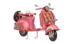 Adorno de metal modelo scooter color rosado - Groupon