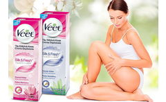 Pack de 3 Veet Crema Depilatoria Corporal Silk & Fresh - Cuponatic