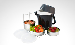 Termo de comida de 2,0 litros con 3 recipientes home elements® - Groupon