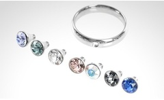 Anillo con 7 cristales Swarovski Elements intercambiables. Incluye despacho - Groupon
