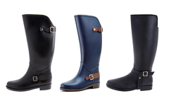 Botas lluvia horse riding y golden stirrup en color y talla a elección - Groupon