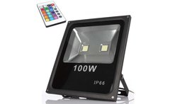 Foco Led Control Remoto Reflector Color Rgb100w - Linio