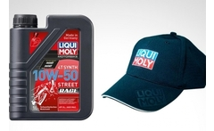 Lubricante motorbike 4t synth 10w-50 street race + gorro liqui moly - Groupon