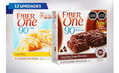 Pack de 12 Unidades de Brownie Fiber One Chocolate o Limón - Cuponatic