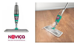 Mopa con cabo y Spray ¡Incluye Repuesto de microfibra lavable! - Clickon