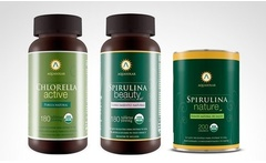Pack de Spirulina Beauty en tabletas + Chlorella Active con opción a Spirulina en polvo. Incluye despacho - Groupon