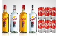 4 botellas de pisco capel a elegir + 24 latas de coca cola - Groupon
