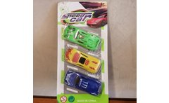 Juguete Pack 3 Autitos Plasticos -speed Car- Blister - Linio
