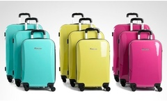 3 maletas ABS + PC Ultralight 360° Travel Collection modelo Cooper en color a elección. Incluye despacho - Groupon
