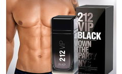 Perfume + Gel Ducha 212 Vip Black Carolina Herrera 100 ml - Cuponatic