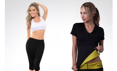 Camiseta y pantalón termo reductores sauna shapers - Groupon
