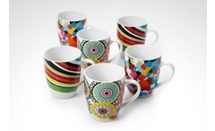Set de 6 mugs de 13 onzas french bull diseños surtido - Groupon