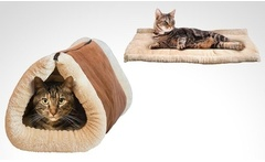 Cama y mat para gatos Kitty Shack con despacho - Groupon