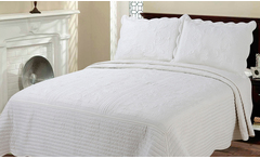 Quilt bordado blanco - Groupon