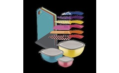 Kit Color Cuchillas Colorcut +Tablas+ Mix potes - Tramontina