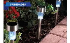 Pack 5 Estacas Solares Led para Jardín - Cuponatic