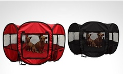 Carpa corral portable para mascotas Pet Playpen en color a elección. Incluye despacho - Groupon