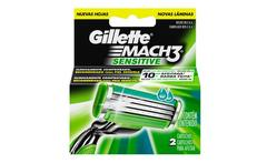 6 repuestos Gillette Mach 3 Sensitive - Groupon