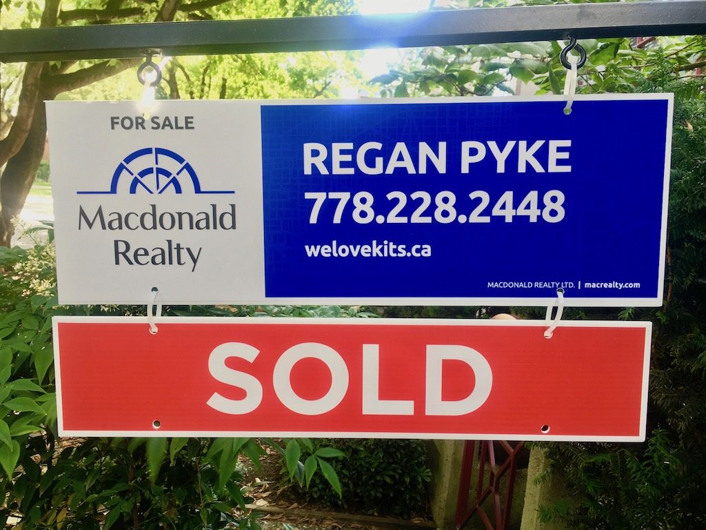 regan pyke sold sign