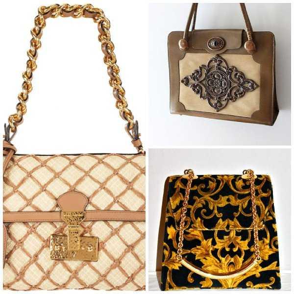 Bolsos con detalles barrocos