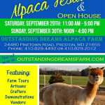 10th Annual Alpaca Festival   Saturday, September 29th 2020