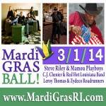 Cajun and Zydeco Mardi Gras Ball 2020