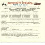 Automotive Evolution 2017