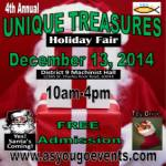 Fourth Unique Treasures Holiday Fair 2019