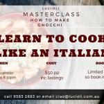 Learn to Cook like an Italian at Lucioli 2019