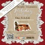 Simple Treasures Holiday Craft Boutique 2016