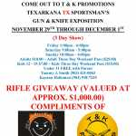 T and K Promotions Texarkana TX Sportsman's Gun and Knife Expo 2019