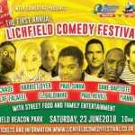 The Lichfield Comedy Festival, 23 june 2018 at Beacon Park in Lichfield 2018