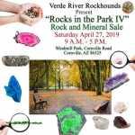 """Verde River Rockhounds present """"Rocks in the Park IV"""" 2019"""