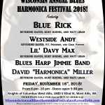 Wisconsin Annual Blues Harmonica Festival 2018! 2018