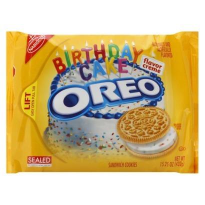 Golden Oreos Birthday Cake