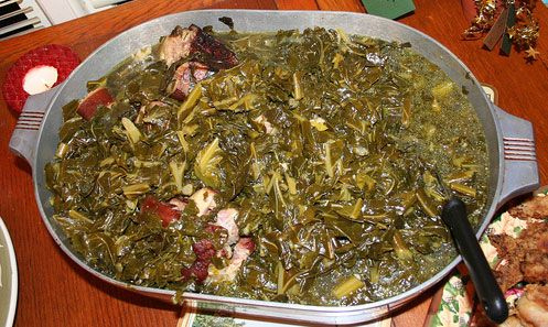 Crockpot Pot Likker Greens