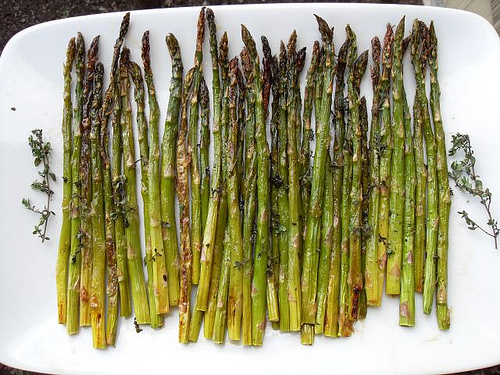 Oven Roasted Asparagus with Thyme