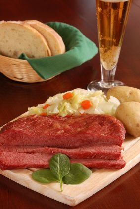 Irish Corned Beef and Cabbage Dinner