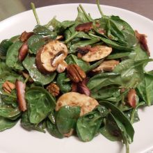 Spinach Salad with Warm Dressing