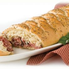 Baked Reuben Braid
