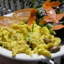 Scrambled Eggs with Chives and Asiago