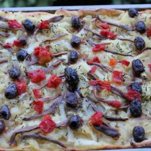 French Onion Tart Pissaladiere