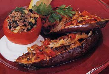 Melanzana Ripiene alla Siciliana  --  Stuffed Eggplant, Sicilian Style