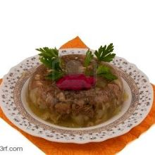 Ukrainian Studinetz (Jellied pork hocks or Pork Aspic)