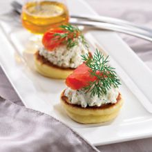 Blinis with Smoked Salmon, Ricotta and Capers