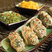 Tuna, Blue and Sesame Bites
