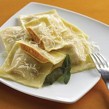 Squash Ravioli with Sage Butter