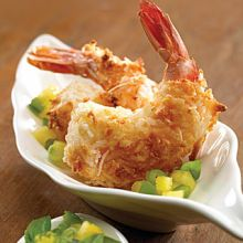 Cocount Shrimp with Basil Pineapple Salsa